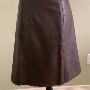 Tommy Hilfiger brown leather skirt